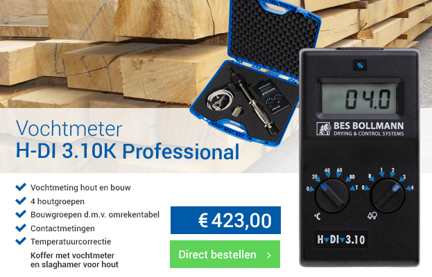 Vochtmeter voor hout en bouw | MoistureMeterShop